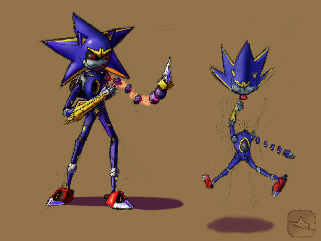 Pseudo metal sonic concept by torcher999 on deviantart for Concept metal