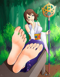 Commission for Chuchuguy: Yuna by FeetCN