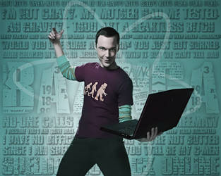 Sheldon Cooper Wallpaper (FINISHED) by LazyEyeDesigns
