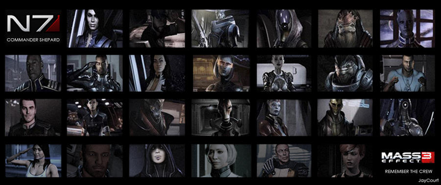 Mass Effect 3 Remember The Crew Who Helped Shepard By Jaycourt On Deviantart-4194