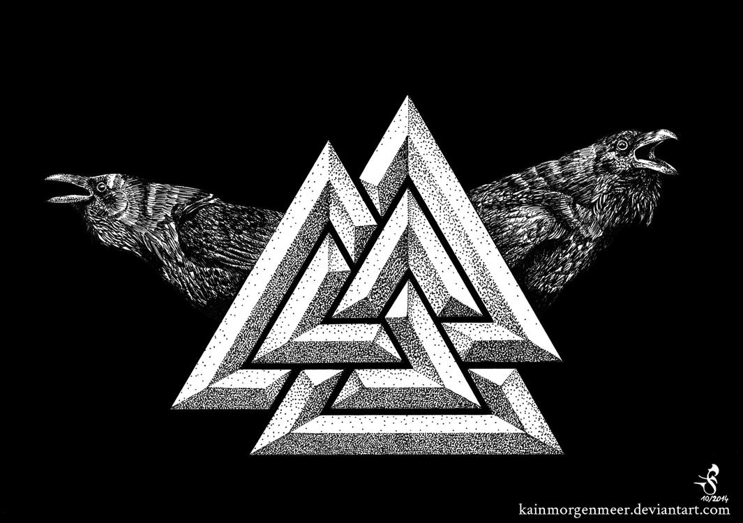 valknut by kainmorgenmeer on deviantart