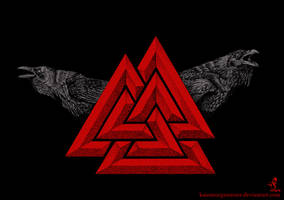 Valknut_red by KainMorgenmeer