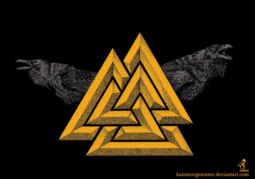 60 Odins Ravens Tattoo Designs For Men Huginn And