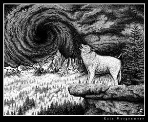 Wolf in the Storm by KainMorgenmeer