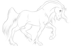 horse lineart by Ilyana88