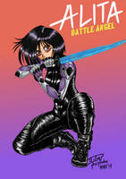 Alita: Battle Angel by Phosphobos