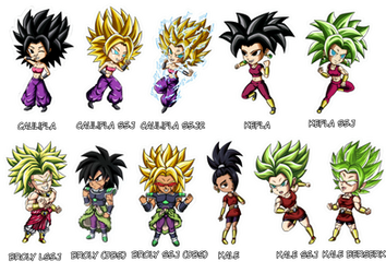 Stickers Batch 2 Dragon Ball Z and Super by Phosphobos