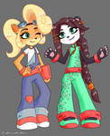 [FANART] Yaya and Coco Crash 4 style