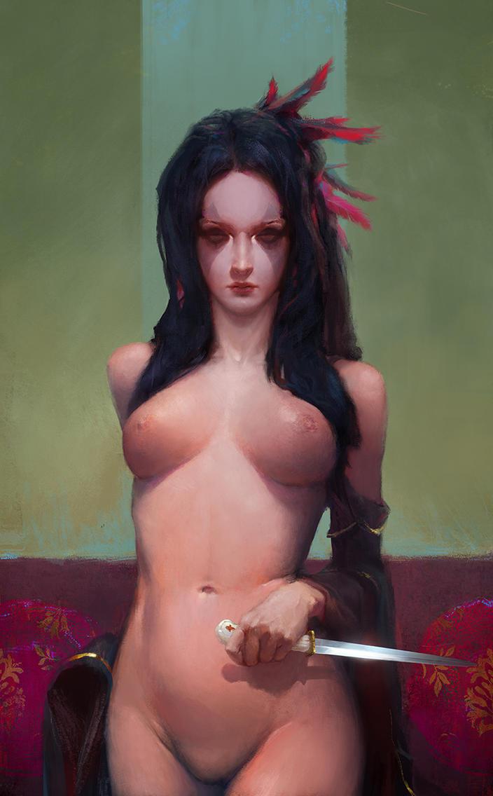 Girl with a dagger by JulienLasbleiz