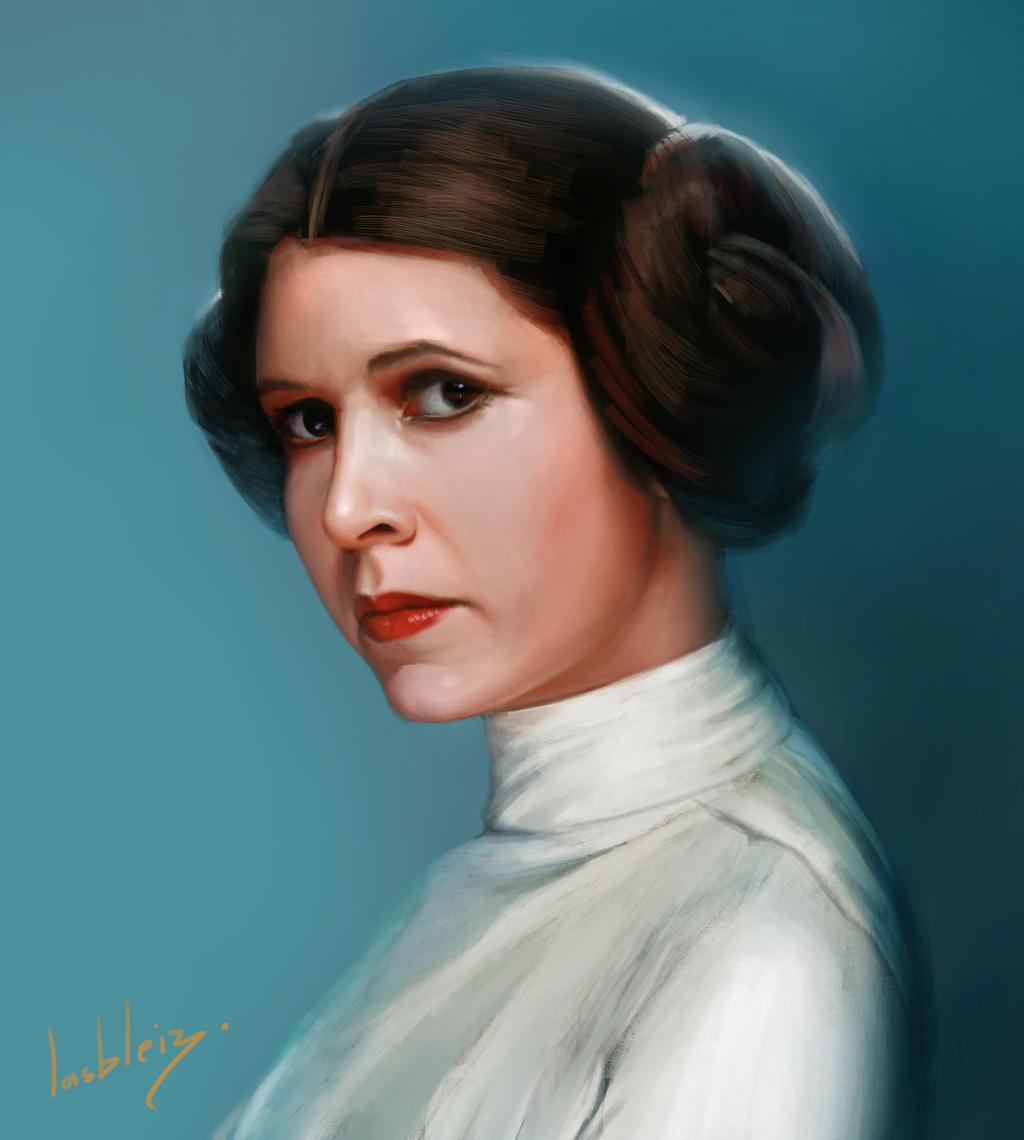 Rest in peace - Carrie Fisher portrait by JulienLasbleiz on DeviantArt