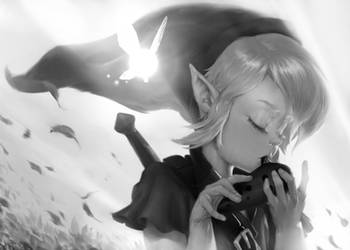 Hero of time - black and white