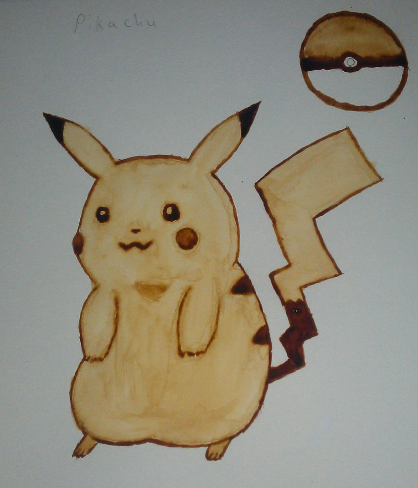 Coffee Pikachu by StrawberryDethMetal