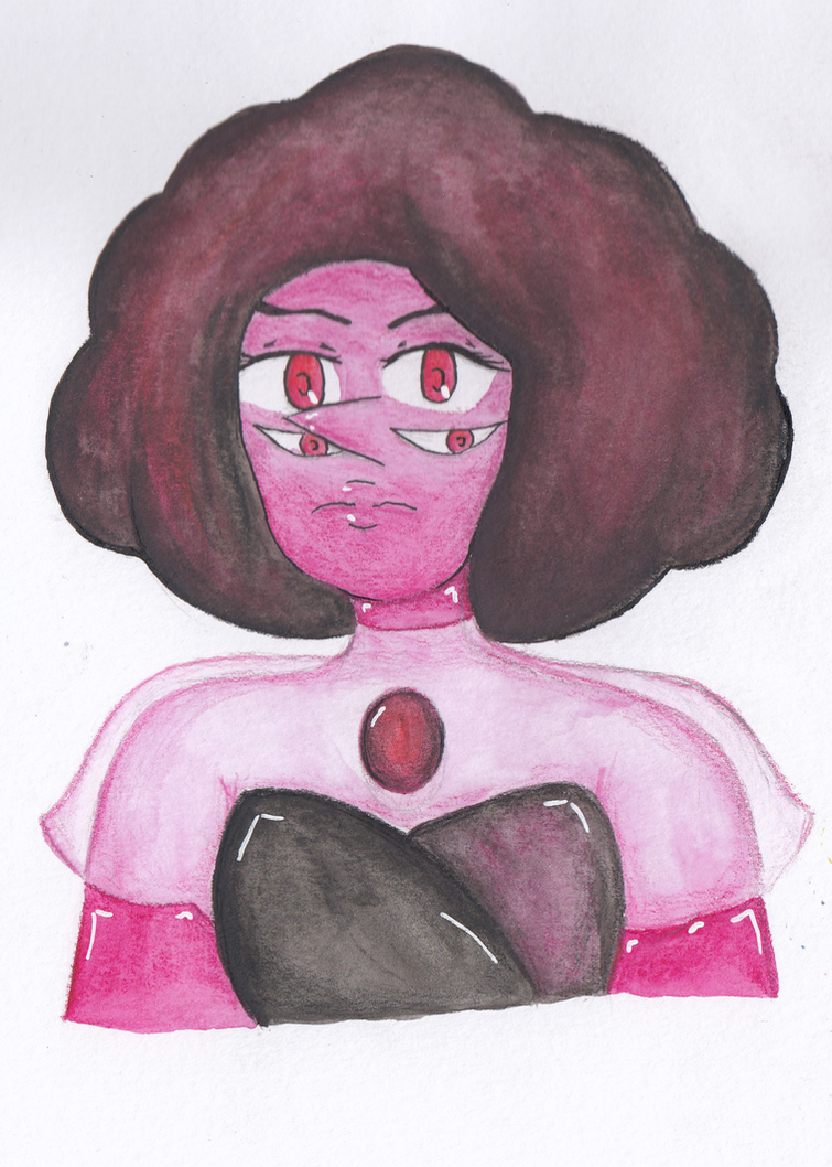 Fanart of Rhodonite of Steven Universe from earlier this year, when she was first in an episode! Not a big fan of this drawing tbh lol