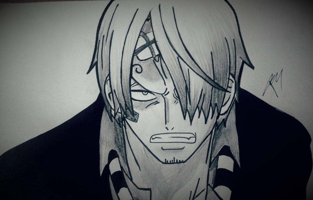 how to draw one piece sanji