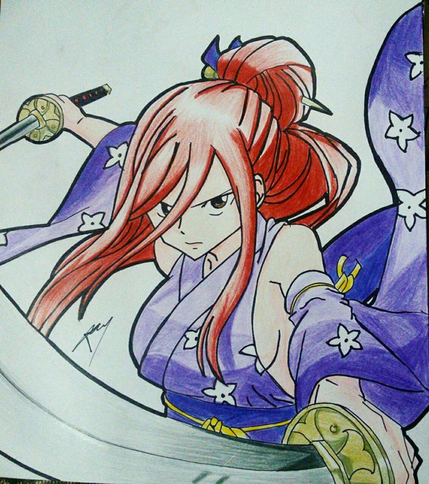 Erza Scarlet Wallpaper: Erza Scarlet By Gabito852 On DeviantArt