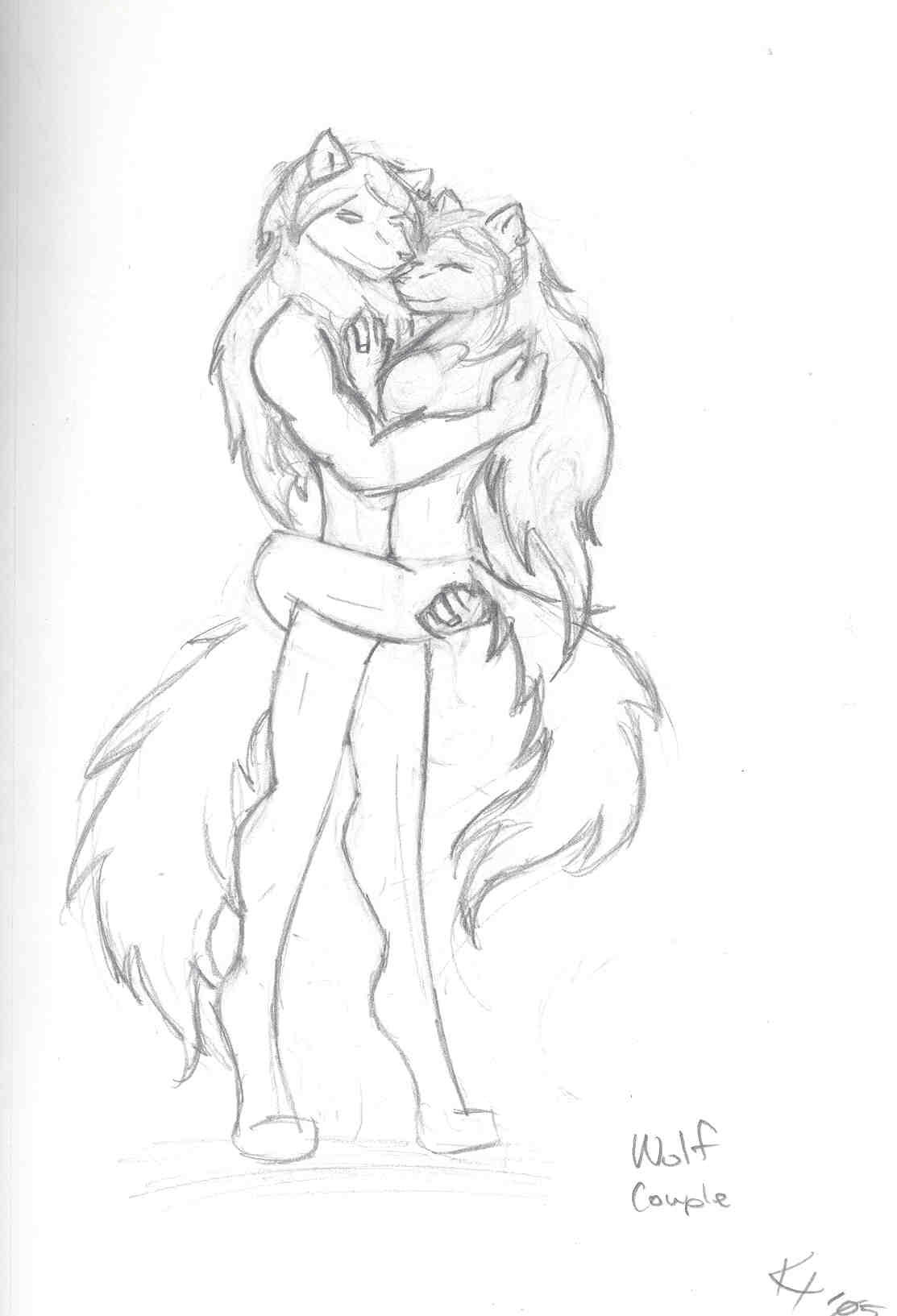 Wolf Couple by 6WingDragon