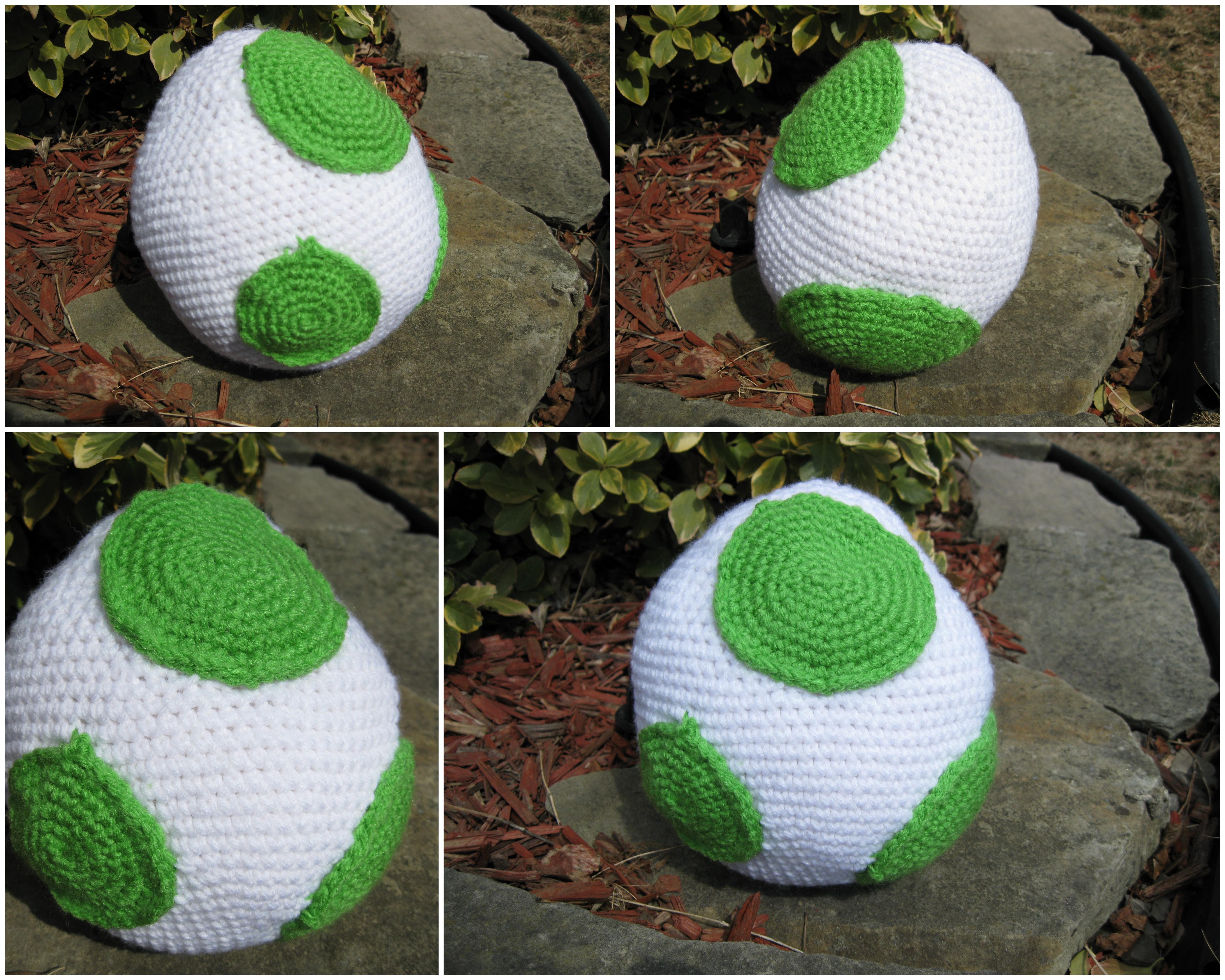 Free Yoshi Egg Crochet Pattern : Large Yoshi Egg Amigurumi Plushi by RTakeshi on DeviantArt