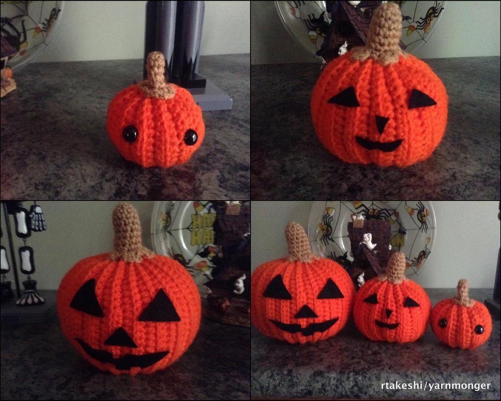Halloween Pumpkin Amigurumi : Pumpkin Family Amigurumi by RTakeshi on deviantART