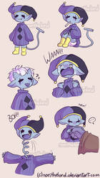 Baby Jevil - doodles by NoriTheLord