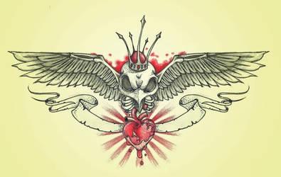 hawk skeleton chestpiece