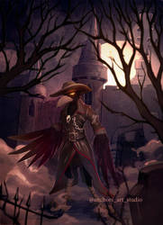 The raven who watches over the graves