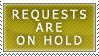Requests- On Hold Stamp by Icelilly