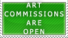 Art Commissions- Open Stamp by Icelilly