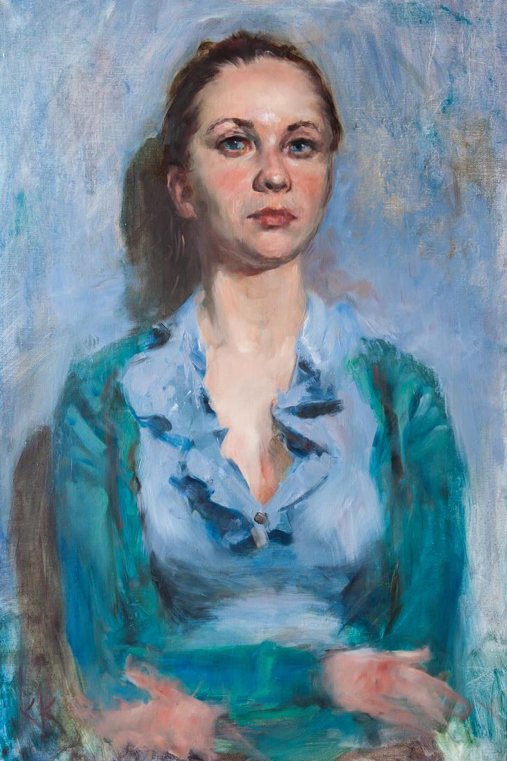 Portrait of Marina by SergeiKrylov