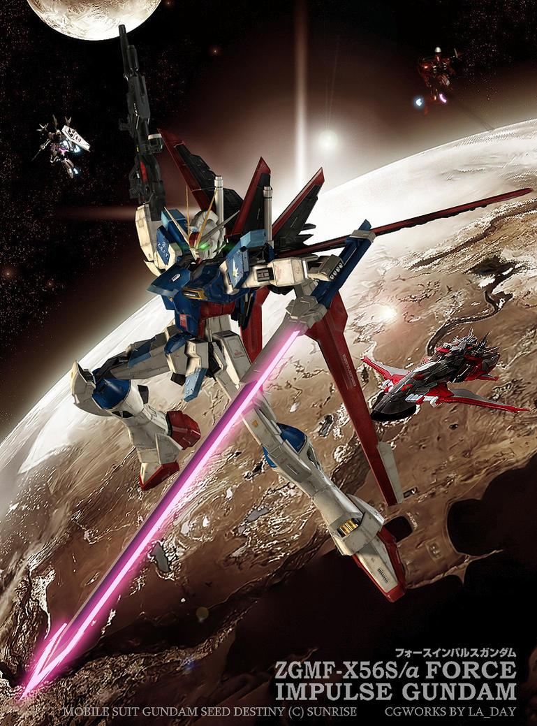 Random Gundam CG database FORCE_IMPULSE_GUNDAM_CG01_by_Ladav01
