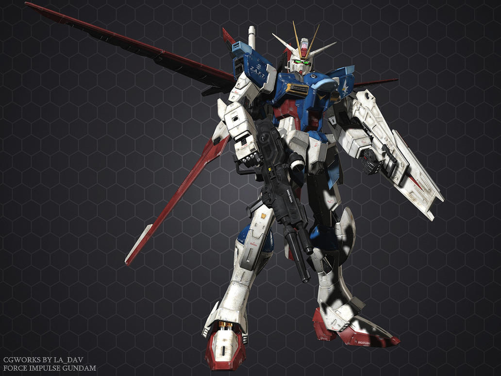 Random Gundam CG database FORCE_IMPULSE_GUNDAM_CG03_by_Ladav01
