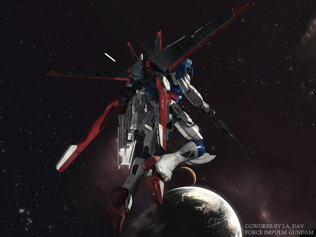 Random Gundam CG database FORCE_IMPULSE_GUNDAM_CG06_by_Ladav01