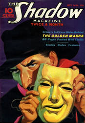 The Shadow - The Golden Masks cover by SavageScribe