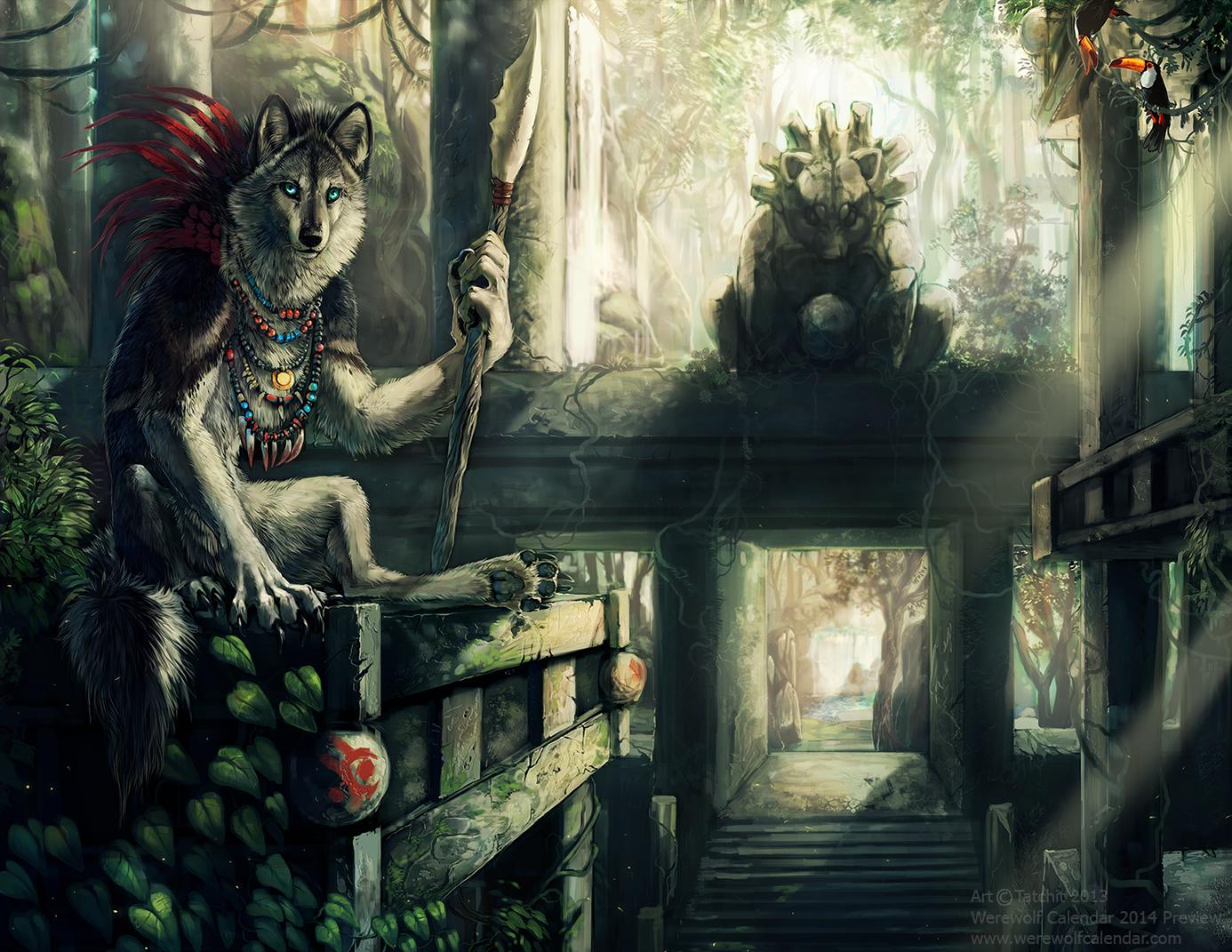 Werewolf Calendar 2014 by Tatchit