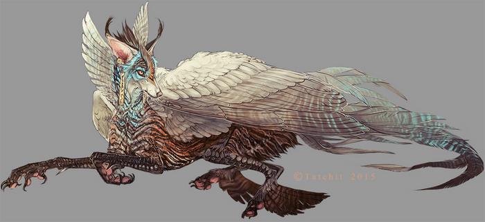 Blue Throated Winged Feonix design