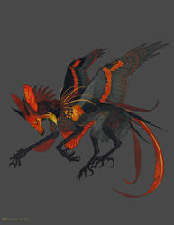 Ember Gliding Feonix by NukeRooster