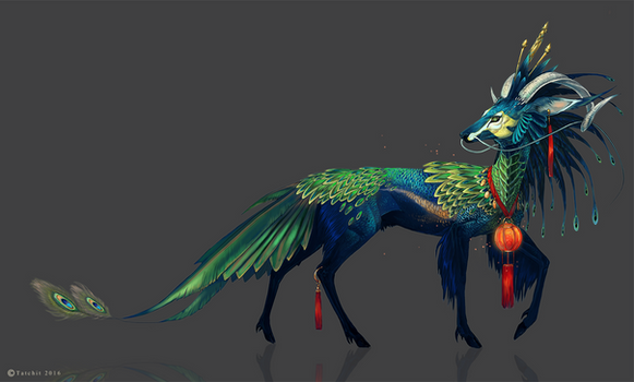 Green Peacock Kirin