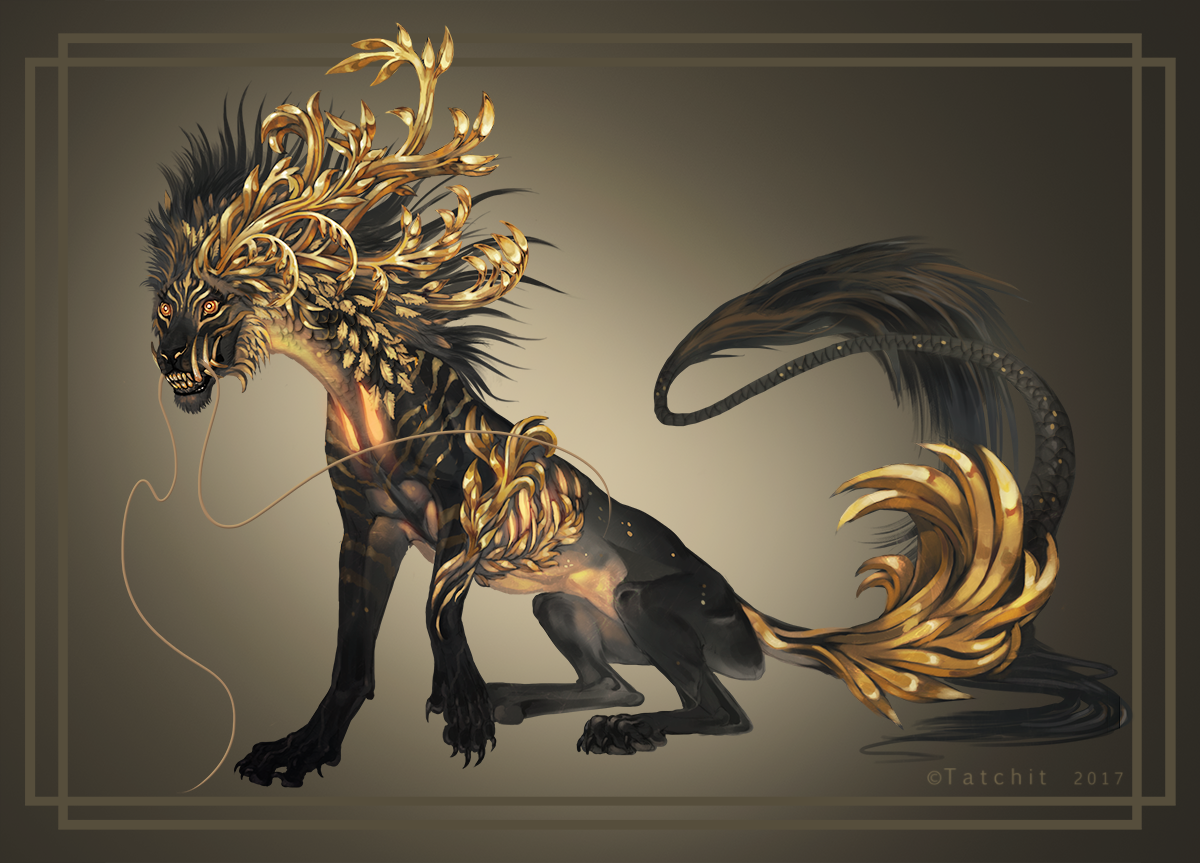 Golden tiger dragon deviantart golden dragon commack