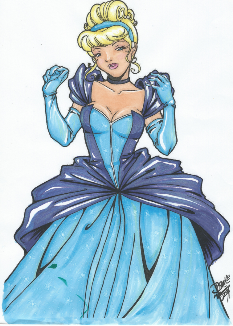 Cinderella in Copic Markers by Meeowy
