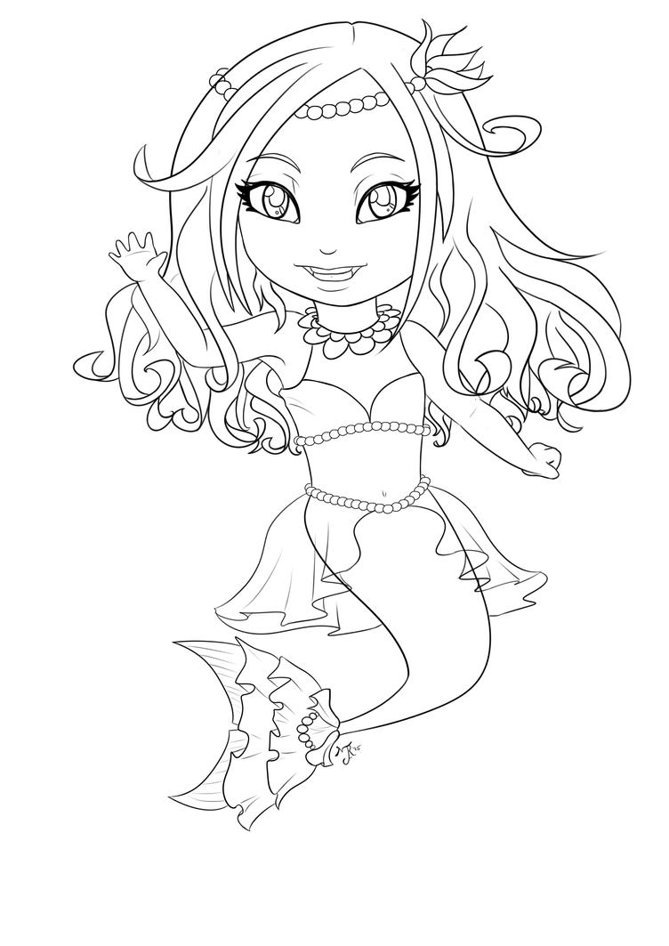 Mermaid Lineart by Emma-Jen on DeviantArt |Mermaid Line Drawing