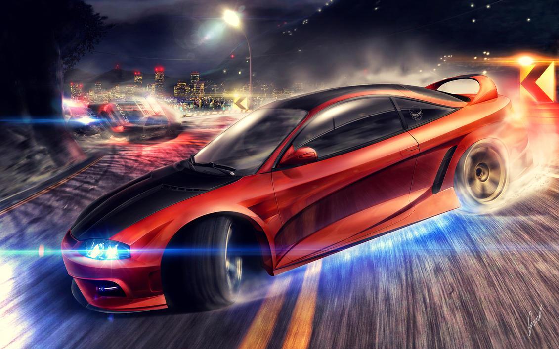 Mitsubishi Eclipse by xGrabx