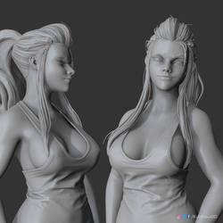 Brigitte (clay render) | Overwatch by Kuhlhaus