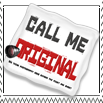 Call Me Original Stamp by CallMeOriginal