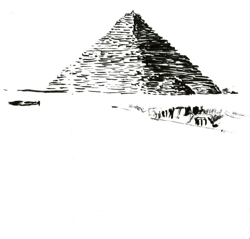 Ink pyramid