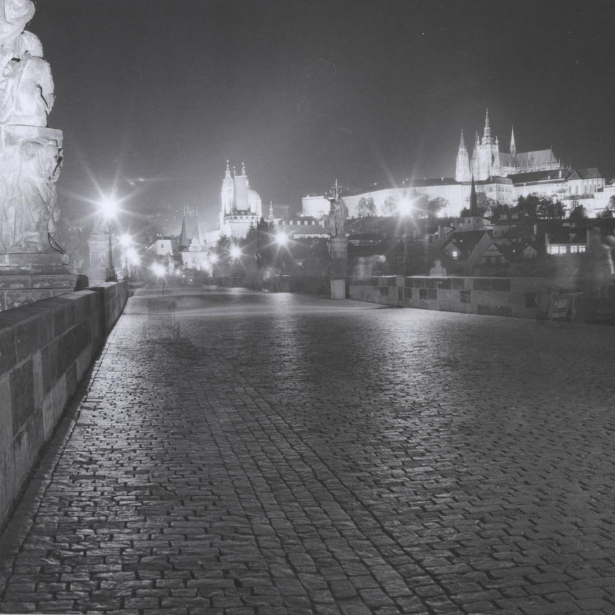 Prague Charles Bridge - nightshot by BinLadin007