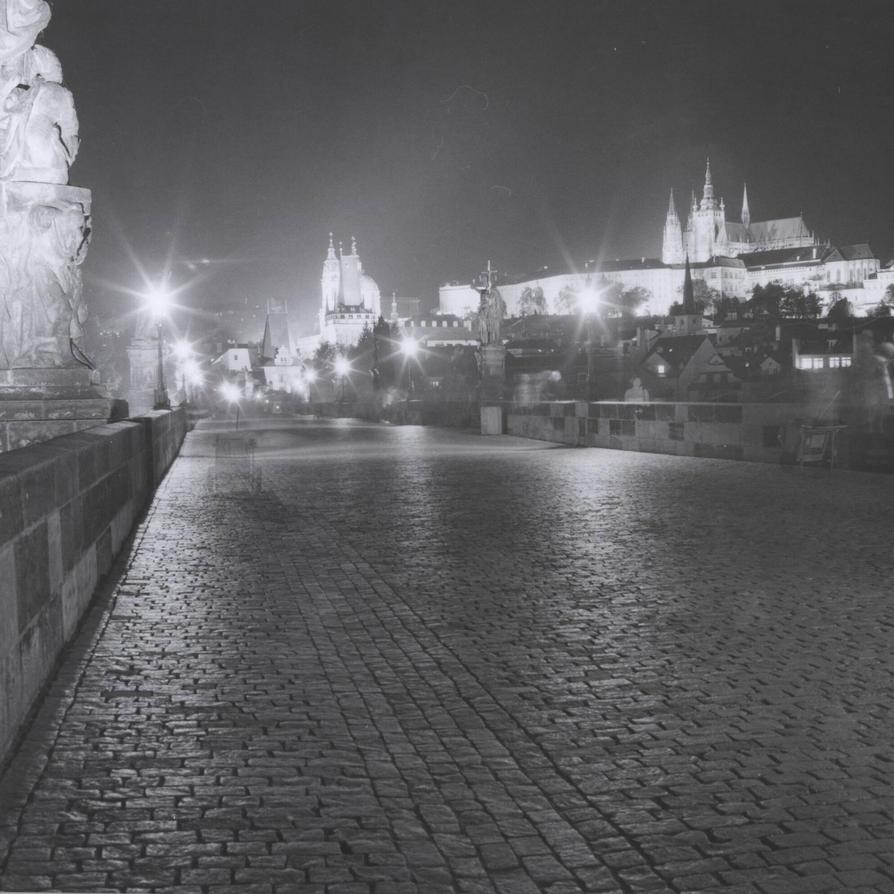 Prague Charles Bridge - nightshot by BinLadin007