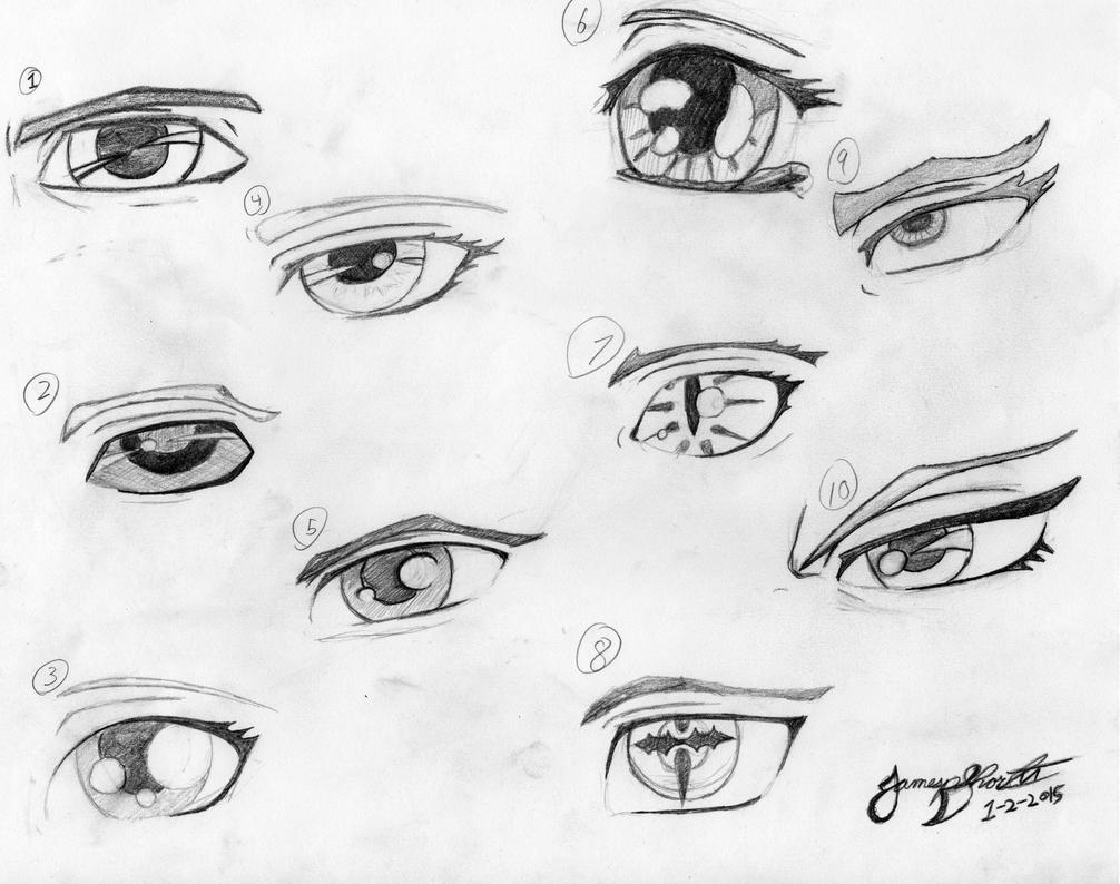 Eye Practice by TheWolfheart89