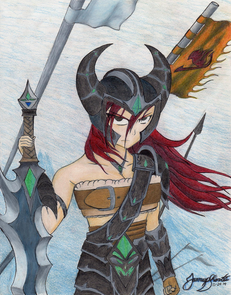 Erza Scarlet: Armor of the Barbarian King by TheWolfheart89