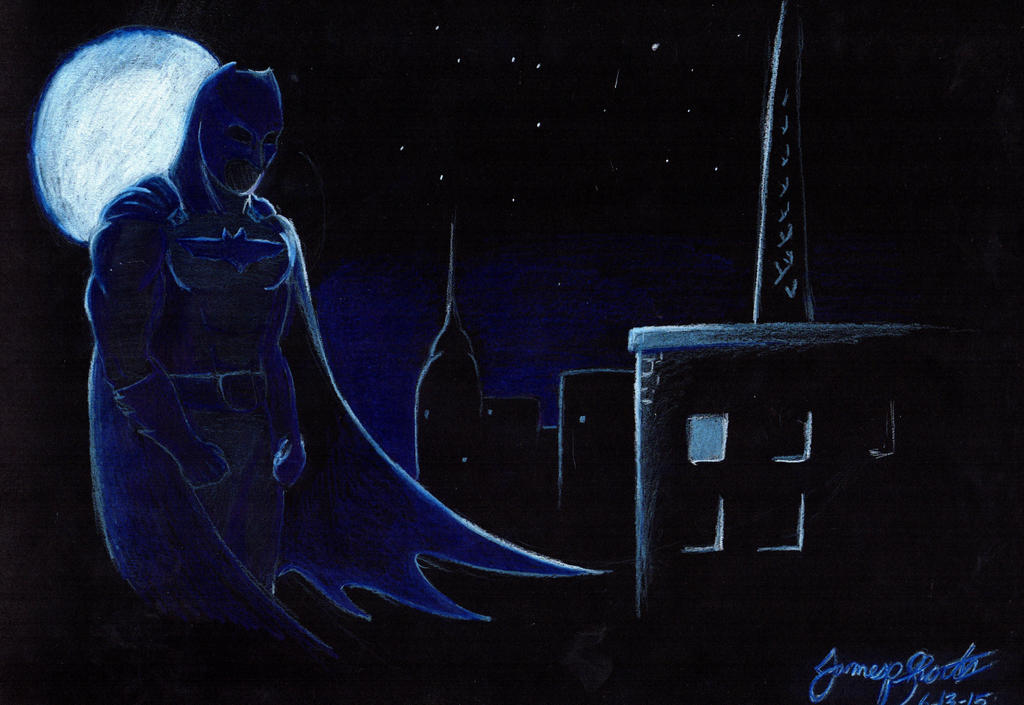 Dark Knight Over Gotham by TheWolfheart89