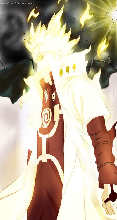 Naruto Chapter: 631-Minato with bijuu mode. by Nineonme