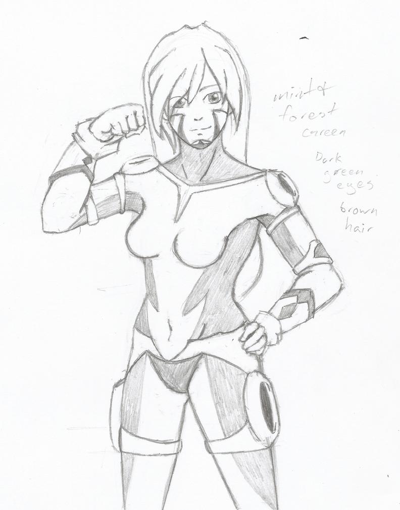 Mantis Sketch (comm) by Zetsumeimaru